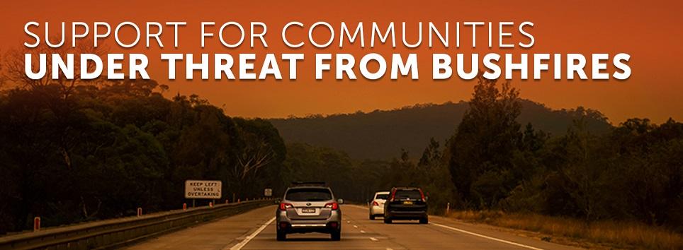 ACRRM Bushfire response banner